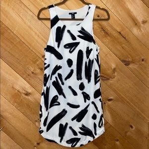Woman's midi dress, sleeveless,H&M,4,wht&blk
